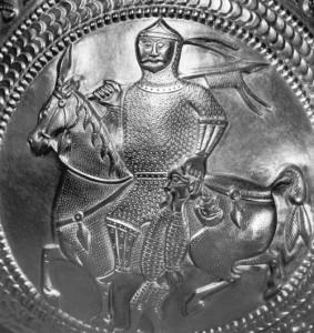 Reiterkrieger auf Kelch aus Nagyszentmiklós (Kunsthistorisches Museum Wien)