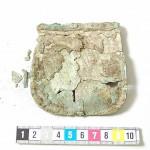 Klappenblech der Tasche aus Birka Bj819